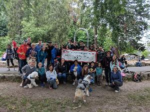 Last year's team - Let's get even more people & puppies to join this year!
